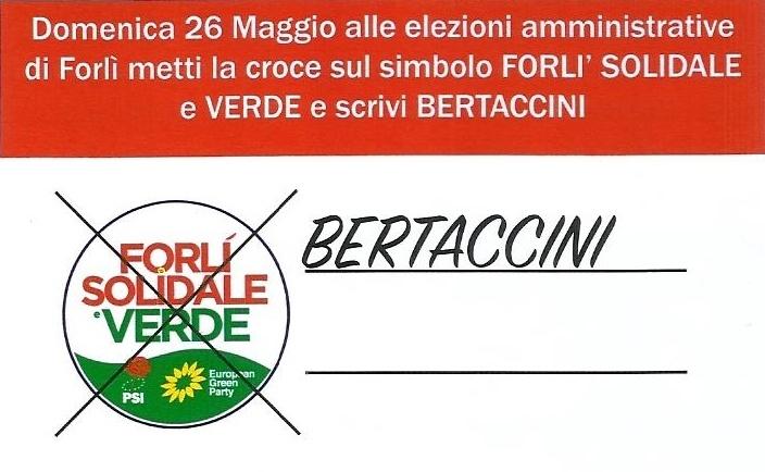 Bertaccini Paolo, PSI Forlì, Lista Forlì Solidale e Verde