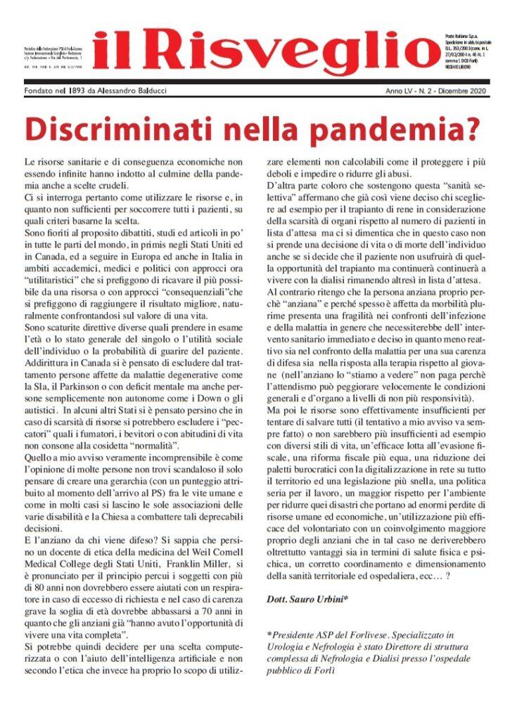 Discriminati nella pandemia?